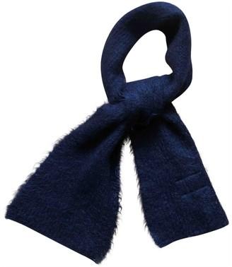 Prada Navy Wool Scarves & pocket squares