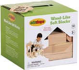 Edushape 30-pc. Wood-Like Soft Blocks