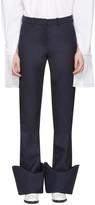Jacquemus Navy le Pantalon à Revers Trousers