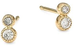 My Story The Jennifer 14K Yellow Gold & Diamond Stud Earrings
