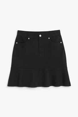 Monki Denim frill skirt