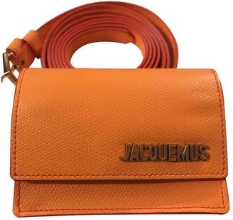 Jacquemus Le Bello Orange Leather Clutch bags