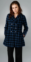 Marc by Marc Jacobs Domino Plaid Coat