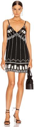 Alexis Jayna Dress in Black Embroidery | FWRD