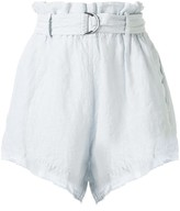 Bassike belted mini shorts