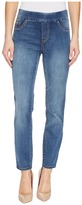Tribal Pull-On Ankle 28 Dream Jeans in Retro Blue Women's Jeans