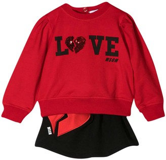 MSGM Two-piece Set Red