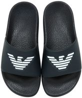 Armani Junior Logo Rubber Slide Sandals