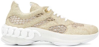 Casadei Glitter Low-Top Sneakers