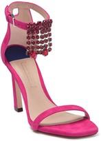Stuart Weitzman Fringe Jewel Squared Ankle Strap Sandal