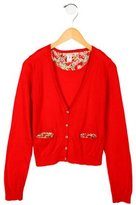 Bonpoint Girls' V-Neck Cardigan