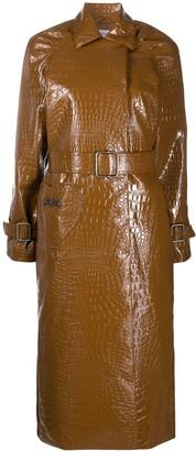 Saks Potts Patent Trench Coat