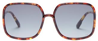Christian Dior Sostellaire 1 Square Acetate Sunglasses - Tortoiseshell