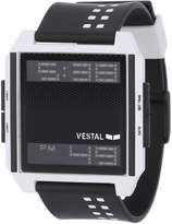 Vestal Men's DIG009 Digichord Black White Polyurethane Digital Watch