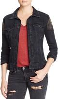 True Religion Gigi Denim Trucker Jacket in Black Noir