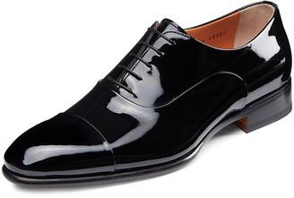 Santoni Men's Isaac Patent Leather Lace-Up Shoes