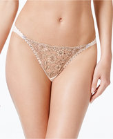 Heidi Klum Intimates Venetian Embrace Floral-Embroidered Thong H37-1387