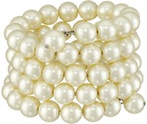 Kenneth Jay Lane 4 Row Cultura Pearl 10mm Coil Bracelet
