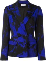 Osman marble print fitted jacket