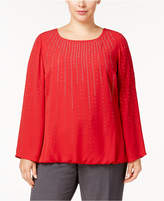 Alfani Plus Size Embellished Blouson Top, Created for Macy's