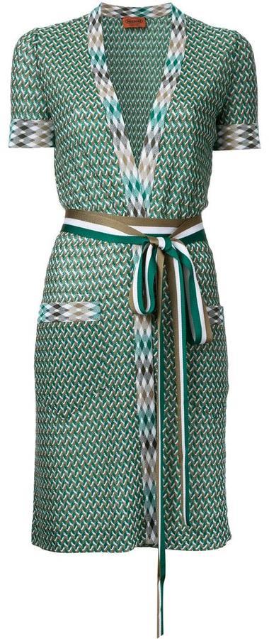 Missoni zig-zag shortsleeved belted cardigan