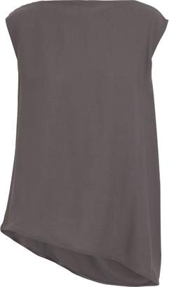 Rick Owens Nouveau Asymmetric Draped Crepe Top