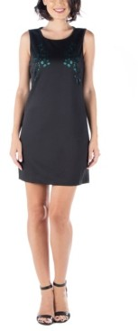 24seven Comfort Apparel Women's Sleeveless Cutout Shift Dress