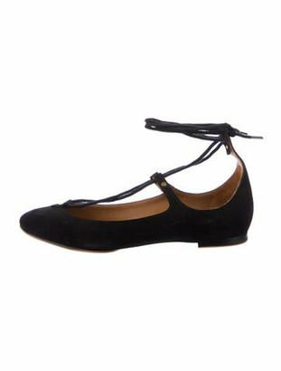 Chloé Suede Ballet Flats Black