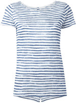 Majestic Filatures semi-sheer striped T-shirt - women - Linen/Flax - I