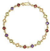 Bloomingdale's Multi Gemstone Small Clover Bracelet in 14K Yellow Gold - 100% Exclusive