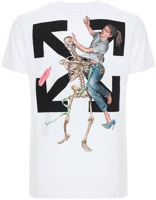Off-White Pascal Skeleton Cotton Slim T-shirt