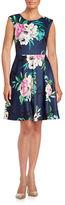 Eliza J Plus Floral Cap Sleeve Dress