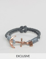 ICON BRAND Anchor Bracelet In Gray Exclusive To ASOS