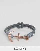 ICON BRAND Anchor Bracelet In Gray