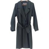 Saint Laurent Green Cotton Trench coat