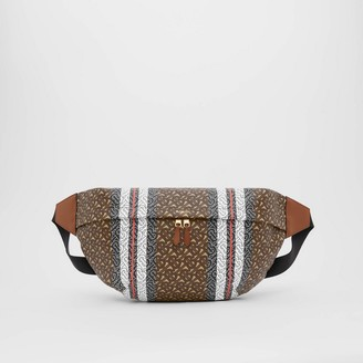 Burberry Extra Large Monogram Stripe E-canvas Bag