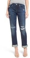 Blank NYC Women's Blanknyc Ripped Crop Boyfriend Jeans
