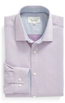 Ted Baker Men's 'Audon' Trim Fit Solid Dress Shirt
