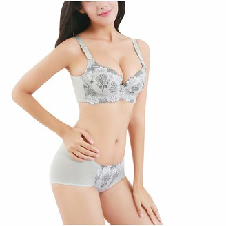 Jiegorge Lingerie Underwear Set Woman No Breast-Wiping and Chest-Wrapping Sports Bras Sexy Lace Underwear