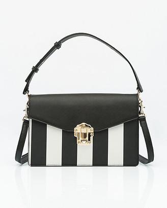 Le Château Stripe Saffiano Faux Leather Bag