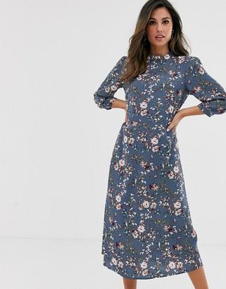 Vila floral midi tea dress