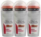 L'Oreal Paris Men Expert Full Power Deodorant Roll-On (50ml) Trio