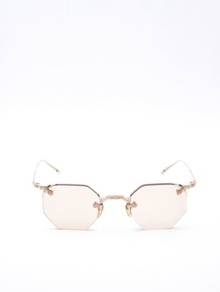 Jacques Marie Mage Rimless Octagon Shaped Sunglasses
