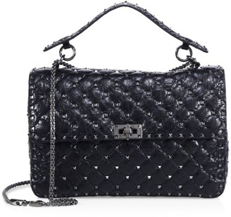 Valentino Rockstud Spike Large Quilted Leather Chain Shoulder Bag