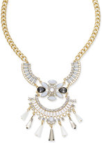 INC International Concepts Snow Queen Gold-Tone Winged Crystal Bib Necklace, Only at Macy's