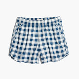 Madewell Pull-On Shorts in Gingham Check