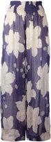 Forte Forte floral print trousers - women - Silk/Linen/Flax/Cupro - 0