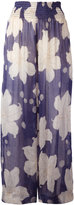 Forte Forte floral print trousers - women - Silk/Linen/Flax/Cupro - II