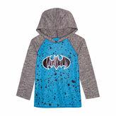 Batman Long Sleeve Hooded Neck T-Shirt-Preschool Boys