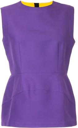 Marni structured peplum blouse